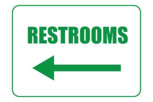 printable restroom signs with left arrows free