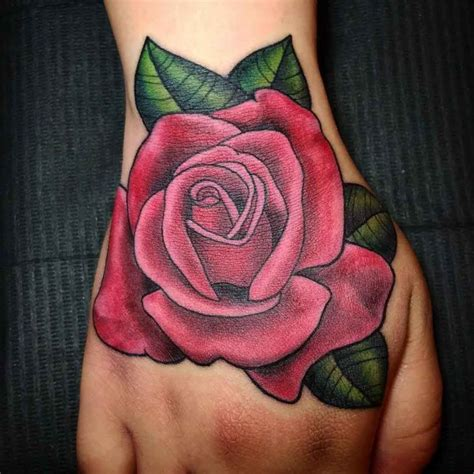 pink and red rose tattoos pink on best ideas gallery
