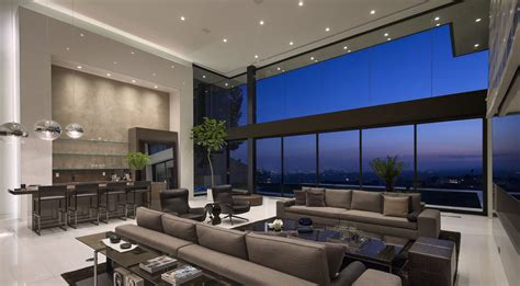 Living Room Bar Los Angeles Sunset By Mcclean Design Architecture Design
