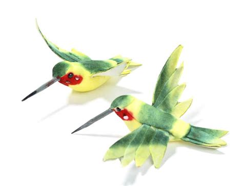 2 1 2 quot artificial hummingbirds box of 12 birds and