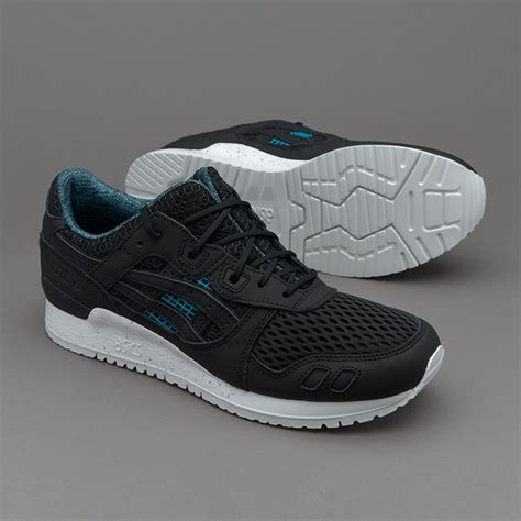 sepatu sneakers asics gel lyte iii 30 years black