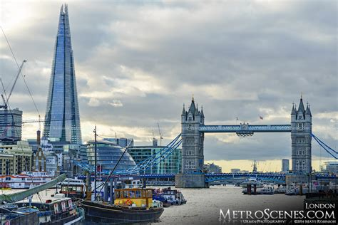 the shard and tower bridge from hermitage riverside