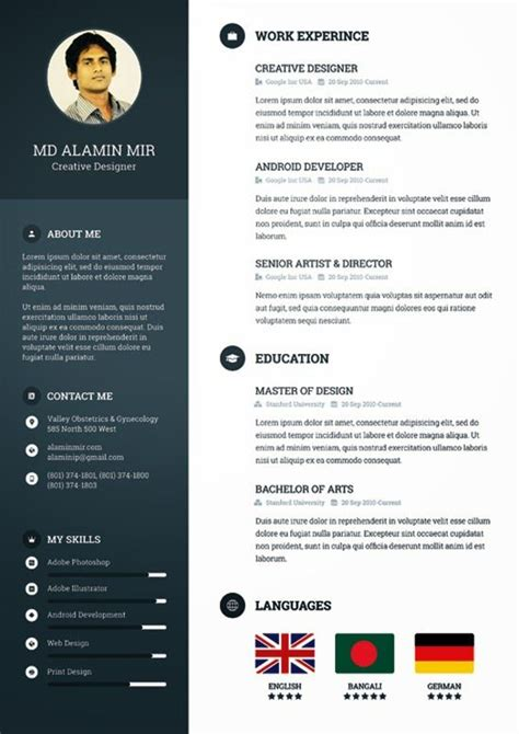 Descargar Plantilla De Curriculum Normal Descarga Plantilla Gratis Curriculum Vitae Creativo Free Creative Resume
