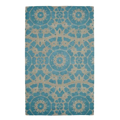 2 X 4 Area Rugs Dynamic Rugs Palace Silver Turquoise 2 Ft X 4 Ft Indoor Area Rug Pc245572904 The Home Depot