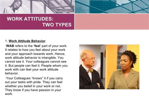 8 Tips On Maintaining A Attitude At Work by Developing Positive Work Attitudes Dbr Lecture Ppt