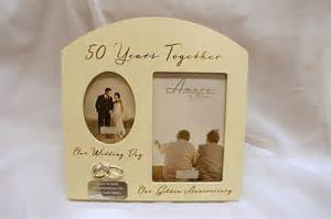 personalised 50th anniversary photo frame golden wedding