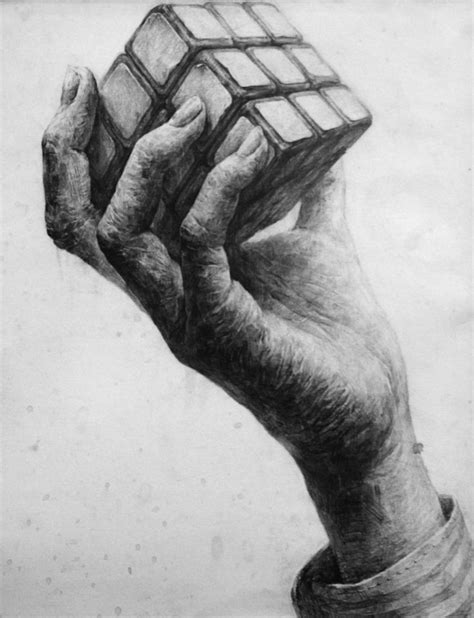 Sketches Holding by Pencil Pencil And In Color Pencil
