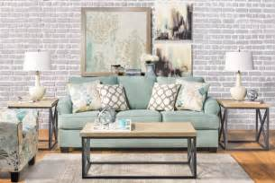 Pictures Of Sofas In Living Rooms Seafoam Sofa Living Room Modern Living Room Los Angeles By Living Spaces