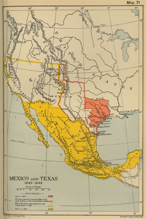 texas and mexico map texas map in 1845