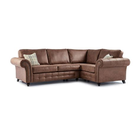 Faux Leather Corner Sofa Oakland Faux Leather Right Corner Sofa In Brown Just Sit On It