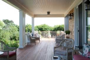 Rear Porch Welcoming Back Porch Coastal Views Traditional Porch
