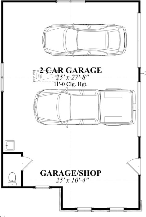 ideas for a narrow two car garage studio design