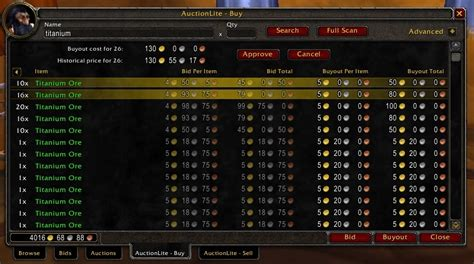 wow auction house prices auctionlite auction house vendors world of warcraft addons