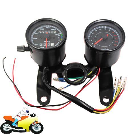Led Speedometer Motor buy universal motorcycle speedometer odometer 0