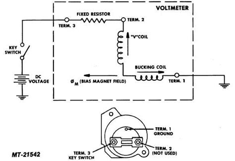 voltmeter wiring diagram charging system in briggs