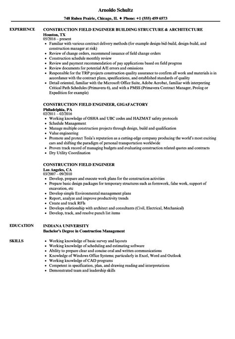 sle resume for electrical engineer in construction field sle resume electrical engineer construction field