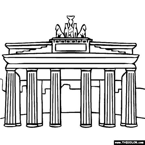 brandenburg gate berlin germany coloring page europe