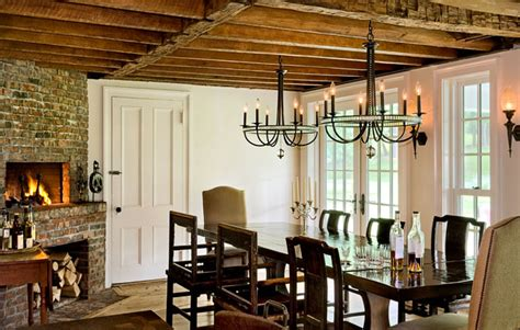 Farm Table Dining Room by On The Drawing Board Low Ceilings Old Home No Problem
