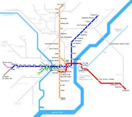 Subway Map Philadelphia by Philadelphia Metro Map Mapsof Net