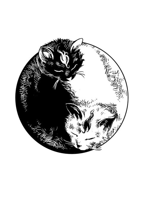 yin yang rose tattoo yin yang cats by steff00 design and inspiration