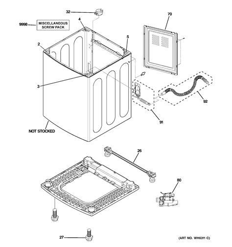 ge washer diagram ge washer tub suspension drive c parts model