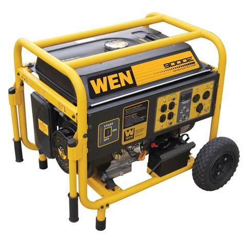 wen 9 000 watt gasoline powered generator with wheel kit