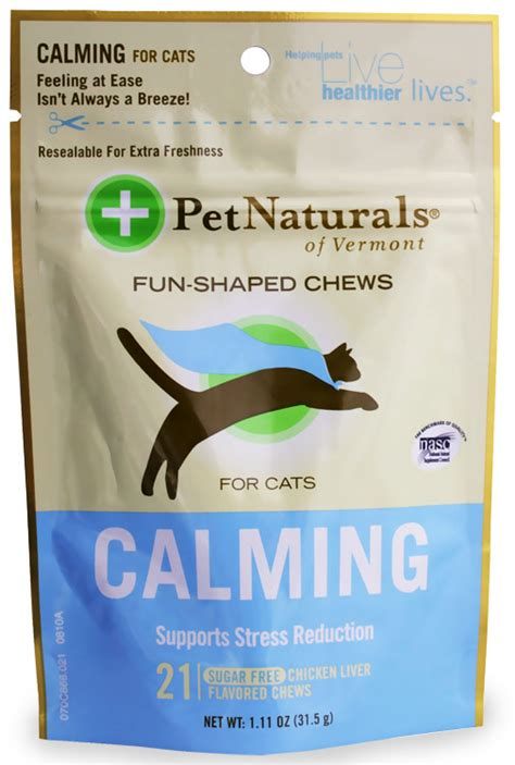 calming chews for dogs pet naturals calming chews for cats 21 count