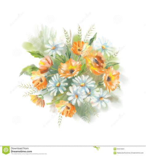 immagini fiori dipinti fiori dipinti acquerello illustrazione di stock immagine