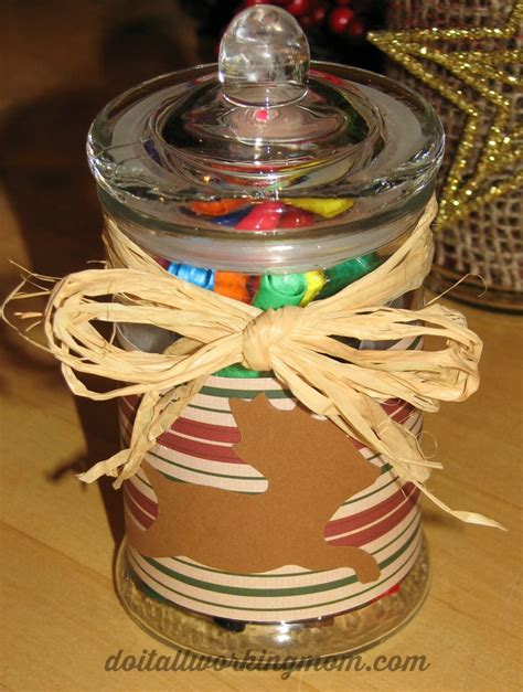 christmas decorated gift jars do it all working mom