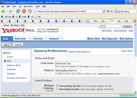 change email format yahoo mail new email address change notification letter images frompo