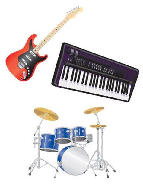 Keyboard Drumband basic rock instruments the electric guitar made rock n