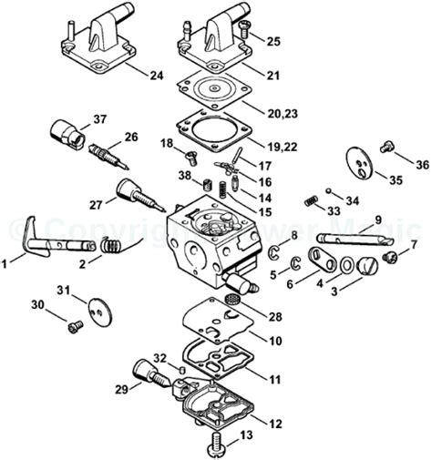 stihl chainsaw carburetor diagram parts diagram in addition stihl pole saw parts free