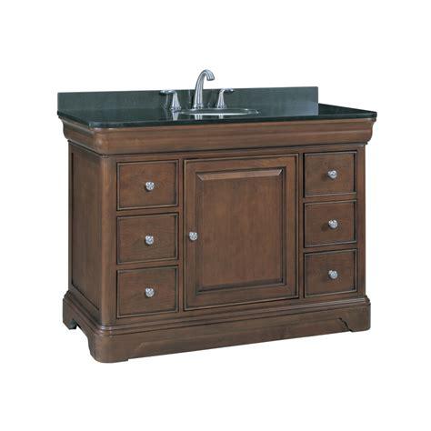 shop allen roth fenella rich cherry undermount single sink bathroom vanity  granite top