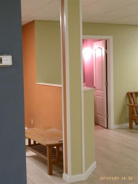 but not juvenile colorful basement eclectic