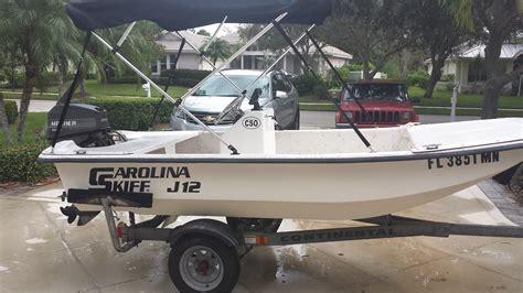 skiff boat console carolina skiff j12 center console little boat lots of