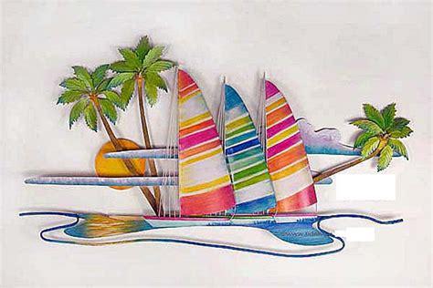 colorful wall decor wall colorful catamarans wall sculpture metal wall
