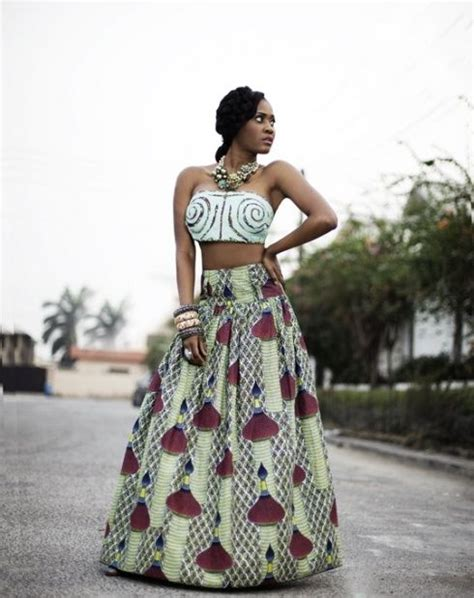 pictures of skirt sown with ankara material maxi skirt in african fabric ankara african fashion