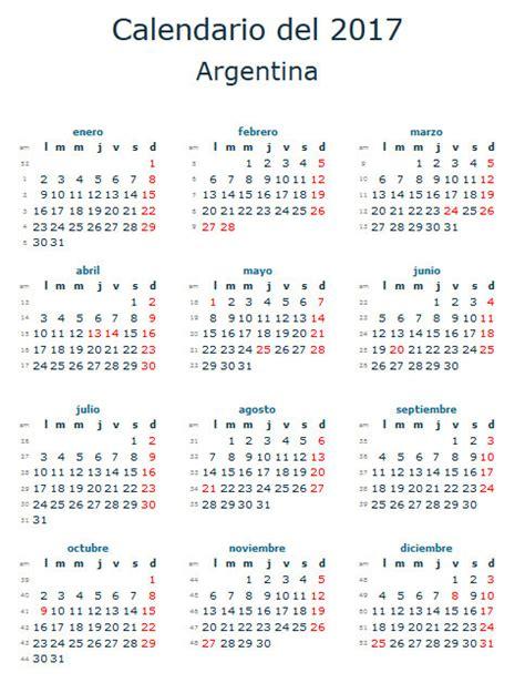 calendario escolar de argentina calendario laboral 2017 para argentina calendario 2017