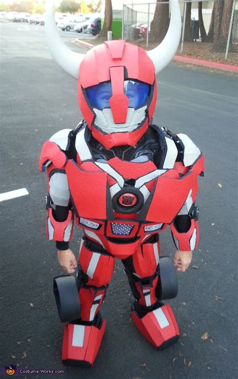 diy transformer cliff jumper costume photo