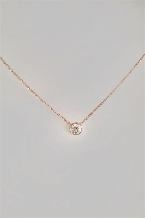 Cora Necklace Kalung Handmade Pink by Necklace 30 Ct Solitaire Necklace