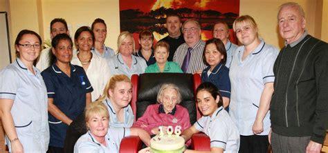 former linen mill worker margaret celebrates 106th