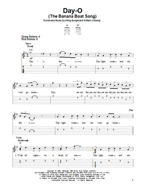 banana boat song notes for violin day o the banana boat song sheet music direct