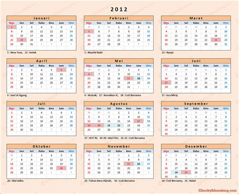 Kalender 2012 Indonesia   Chocky Sihombing