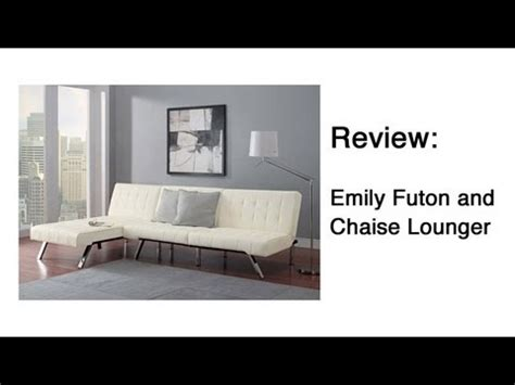 emily futon chaise lounger emily futon and chaise lounger review youtube