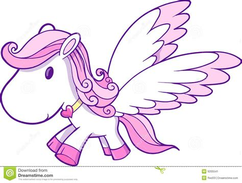 Princess Castle Wall Sticker cute pink pegasus vector stock image image 9205541