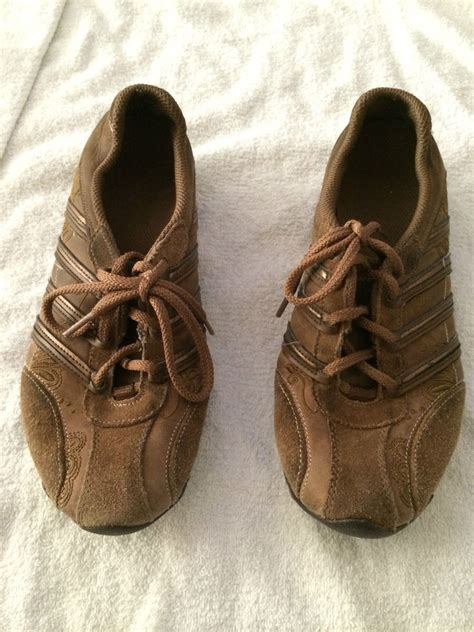 womens brown leather sneakers skechers walking tennis shoes womens sneakers brown