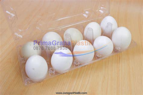 Pp Bening 20x30 Cm Tebal 08 box plastik telur 10 sekat terdapat kancing pengunci stock indent home