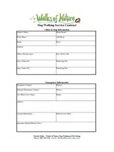 Walking Poster Template by Walking Contract Template 2 Free Templates In Pdf