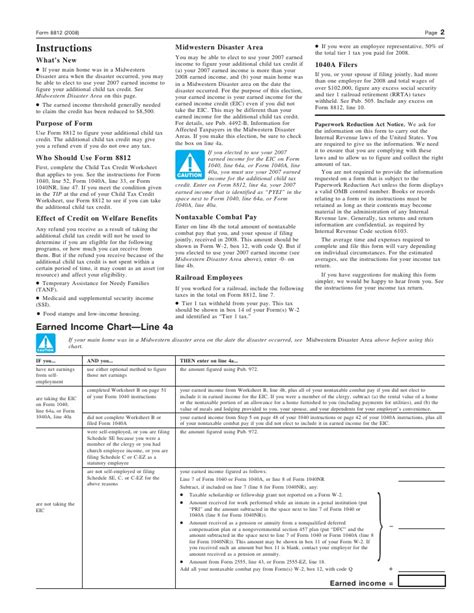 Child Credit Tax Forms form 8812 worksheet worksheets releaseboard free