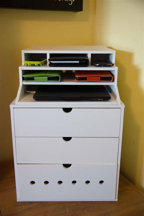 charging station organizer diy genius diy charging station great for the lap top to